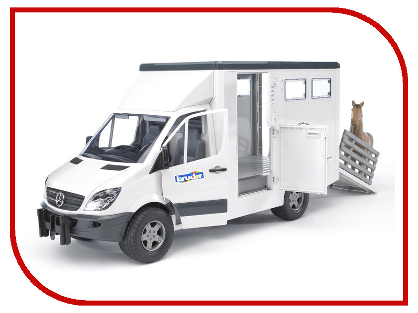 d0a1561efd Игрушка Bruder с лошадью Mercedes-Benz Sprinter (02-533) 1:16 45.5 см
