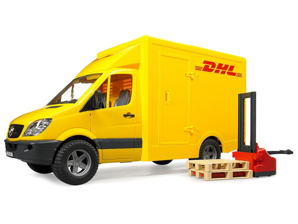 Игрушка Bruder Фургон DHL с погрузчиком Mercedes-Benz Sprinter (02-534) 1:16 45.5 см