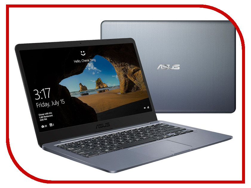 Ноутбук ASUS VivoBook E406SA-BV001T Grey 90NB0HK1-M02150 (Intel Celeron N3060 1.6 GHz/2048Mb/32Gb SSD/Intel HD Graphics/Wi-Fi/Bluetooth/Cam/14.0/1366x768/Windows 10 Home 64-bit) ноутбук asus vivobook x541na gq558t 90nb0e81 m10300 intel celeron n3450 1 1 ghz 4096mb 128gb ssd intel hd graphics wi fi bluetooth cam 15 6 1366x768 windows 10 64 bit