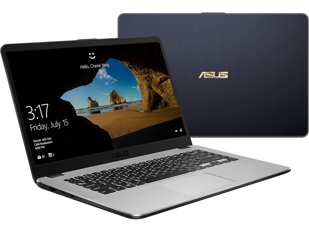 Ноутбук ASUS VivoBook X505ZA-BQ035T Grey 90NB0I11-M00620 (AMD Ryzen 5 2500U 2.0 GHz/8192Mb/1000Gb/AMD Radeon Vega 8/Wi-Fi/Bluetooth/Cam/15.6/1920x1080/Windows 10 64-bit)