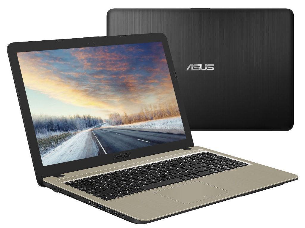 Ноутбук ASUS VivoBook X540MA-GQ018 Black 90NB0IR1-M00290 (Intel Celeron N4000 1.1 GHz/2048Mb/500Gb/Intel HD Graphics/Wi-Fi/Bluetooth/Cam/15.6/1366x768/Endless OS) ноутбук asus x507ma br001 intel n4000 4gb 500gb 15 6 endless grey