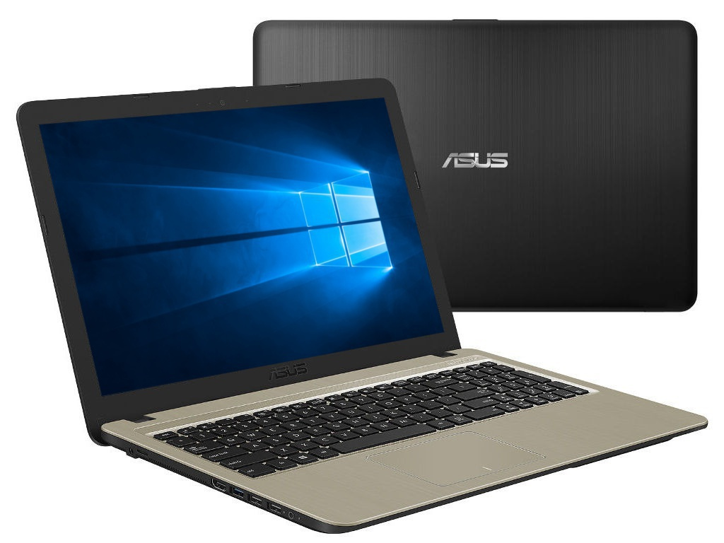 Ноутбук ASUS VivoBook X540MA-GQ064T Black 90NB0IR1-M03660 (Intel Celeron N4000 1.1 GHz/4096Mb/500Gb/Intel HD Graphics/Wi-Fi/Bluetooth/Cam/15.6/1366x768/Windows 10 64-bit)