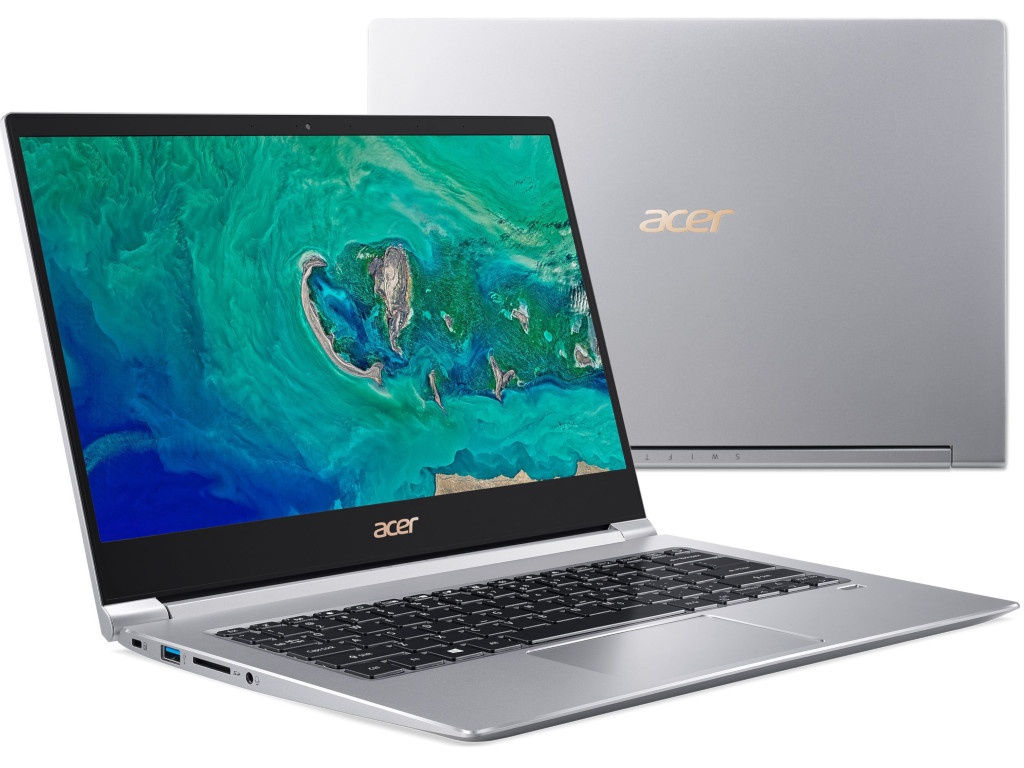 Ноутбук Acer Swift 3 SF314-55G-74ZE Silver NX.H3UER.004 (Intel Core i7-8565U 1.8 GHz/8192Mb/512Gb SSD/nVidia GeForce MX150 2048Mb/Wi-Fi/Bluetooth/Cam/14.0/1920x1080/Windows 10)