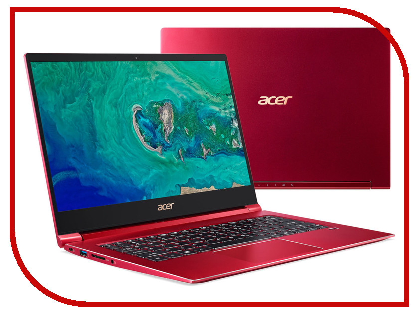 Ноутбук Acer Swift 3 SF314-55-78GB Red NX.H5WER.003 (Intel Core i7-8565U 1.8 GHz/8192Mb/512Gb SSD/Intel UHD Graphics 620/Wi-Fi/Bluetooth/Cam/14.0/1920x1080/Linux)