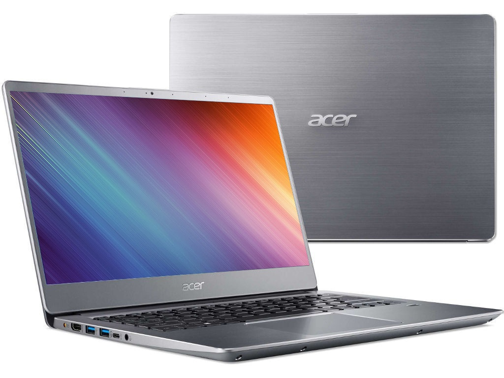 Ноутбук Acer Swift 3 SF314-54G-81P9 Silver NX.GY0ER.007 (Intel Core i7-8550U 1.8 GHz/8192Mb/256Gb SSD/nVidia GeForce MX150 2048Mb/Wi-Fi/Bluetooth/Cam/14.0/1920x1080/Linux) цена