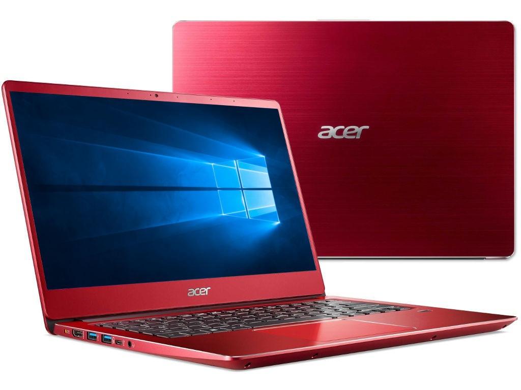 Ноутбук Acer Swift 3 SF314-54G-56GJ Red NX.H07ER.001 (Intel Core i5-8250U 1.6 GHz/8192Mb/256Gb SSD/nVidia GeForce MX150 2048Mb/Wi-Fi/Bluetooth/Cam/14.0/1920x1080/Windows 10) цена