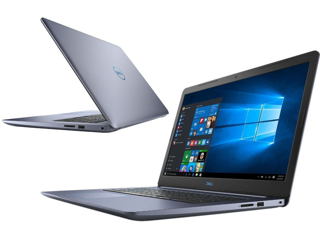 Ноутбук Dell G3 3779 Blue G317-7602 (Intel Core i5-8300H 2.3 GHz/8192Mb/1000Gb+128Gb SSD/nVidia GeForce GTX 1050 4096Mb/Wi-Fi/Bluetooth/Cam/17.3/1920x1080/Windows 10 64-bit)