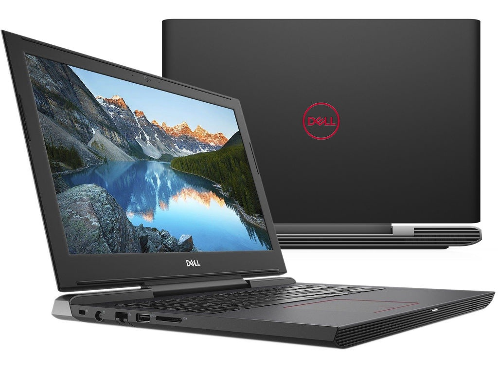 Ноутбук Dell G5 5587 Black G515-7435 (Intel Core i7-8750H 2.2 GHz/8192Mb/1000Gb+128Gb SSD/nVidia GeForce GTX 1050Ti 4096Mb/Wi-Fi/Bluetooth/Cam/15.6/1920x1080/Windows 10 64-bit) ноутбук dell inspiron 7577 7577 5990 intel core i7 7700hq 2 8 ghz 16384mb 1000gb 128gb ssd nvidia geforce gtx 1050ti 4096mb wi fi cam 15 6 1920x1080 windows 10 64 bit