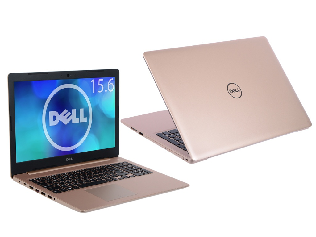Ноутбук Dell Inspiron 5570 Gold 5570-7826 (Intel Core i5-8250U 1.6 GHz/4096Mb/1000Gb/DVD-RW/AMD Radeon 530 2048Mb/Wi-Fi/Bluetooth/Cam/15.6/1920x1080/Windows 10 Home 64-bit)