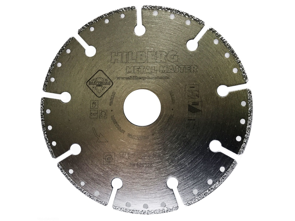 Диск Trio Diamond Hilberg Super Metall 520125 алмазный отрезной 125x22.23mm