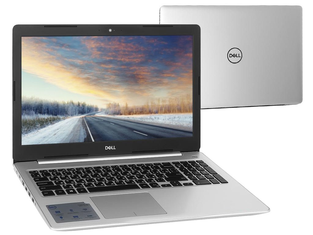 Ноутбук Dell Inspiron 5570 Silver 5570-6342 (Intel Core i7-8550U 1.8 GHz/8192Mb/1000Gb+128Gb SSD/DVD-RW/AMD Radeon 530 4096Mb/Wi-Fi/Bluetooth/Cam/15.6/1920x1080/Linux) системный блок dell optiplex 3050 sff i3 6100 3 7ghz 4gb 500gb hd620 dvd rw linux клавиатура мышь черный 3050 0405
