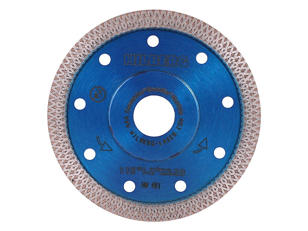 Диск Trio Diamond Hilberg Турбо HM401 алмазный отрезной по керамограниту 115x22.23mm