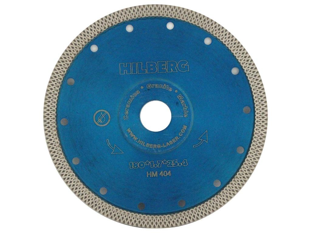 Диск Trio Diamond Hilberg Турбо HM404 алмазный отрезной по керамограниту 180x22.23mm