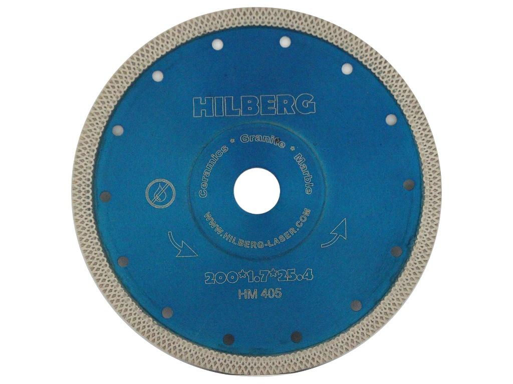 Диск Trio Diamond Hilberg Турбо HM405 алмазный отрезной по керамограниту 200x25.4mm