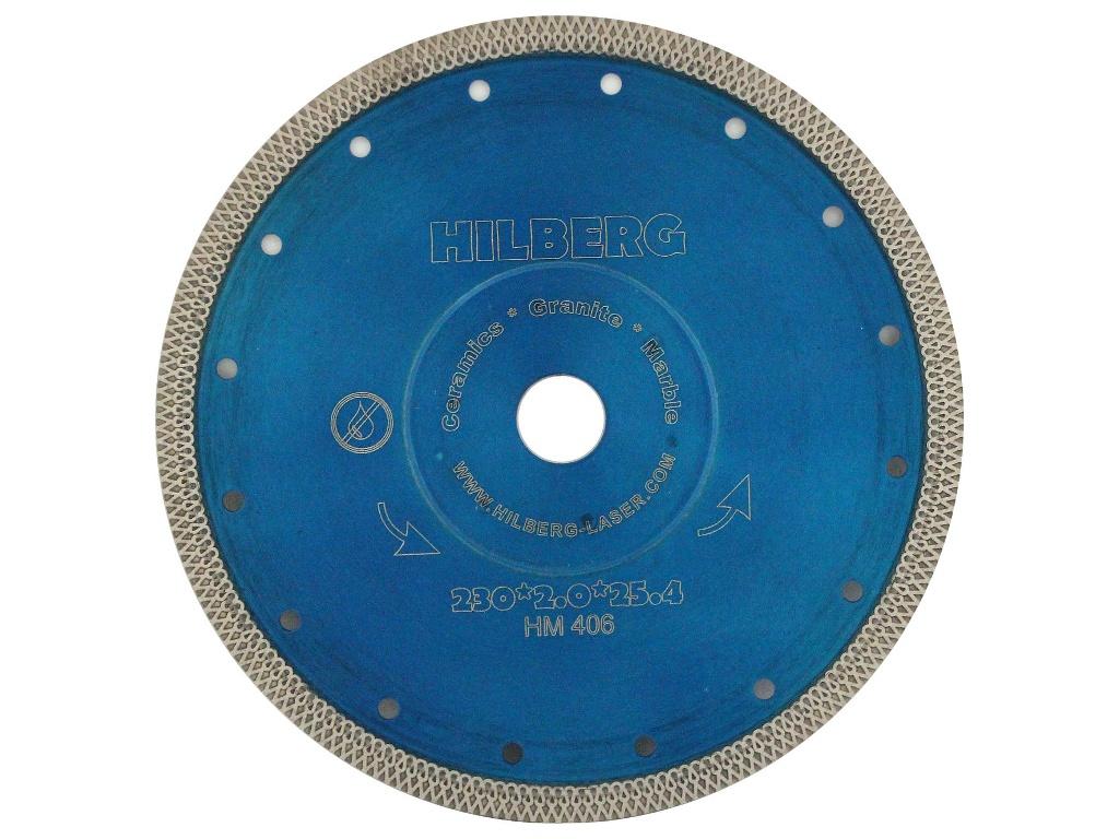 Диск Trio Diamond Hilberg Турбо HM406 алмазный отрезной по керамограниту 230x25.4mm