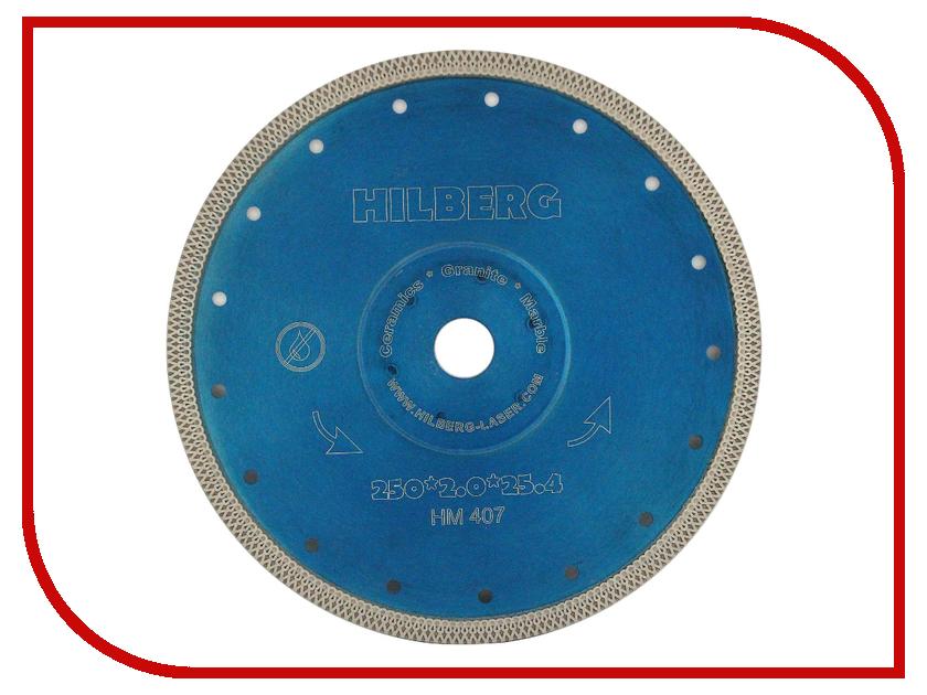 Диск Trio Diamond Hilberg Турбо HM407 алмазный отрезной по керамограниту 250x25.4mm диск trio diamond segment s204 алмазный отрезной 180x22 23mm