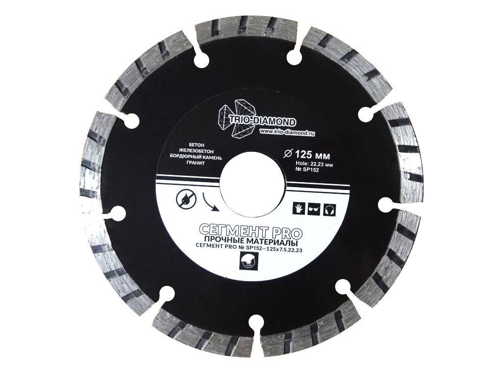 Диск Trio Diamond Сегмент Pro SP152 алмазный отрезной 125x22.23mm