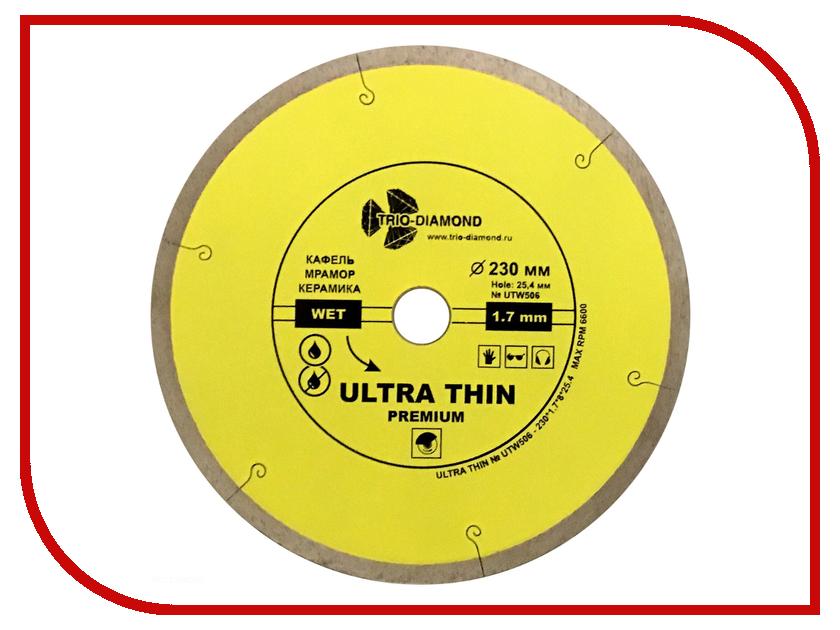 Диск Trio Diamond UTW506 алмазный отрезной сплошной для керамогранита 230x25.4mm