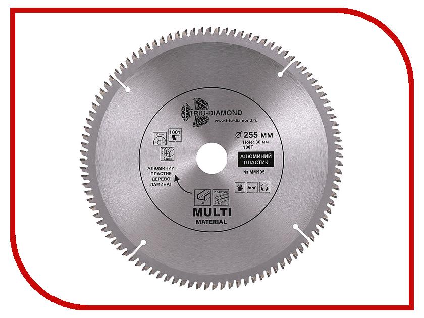 Диск Trio Diamond MM905 пильный по мультиматериалам 255x30mm 100 зубьев цена