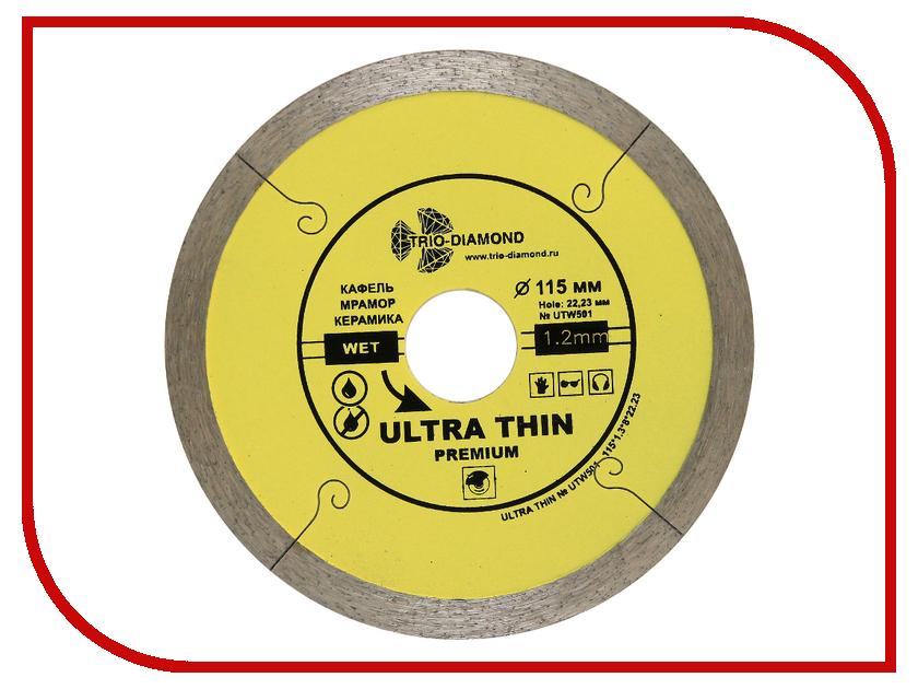Диск Trio Diamond UTW501 алмазный отрезной сплошной для керамогранита 115x22.23mm