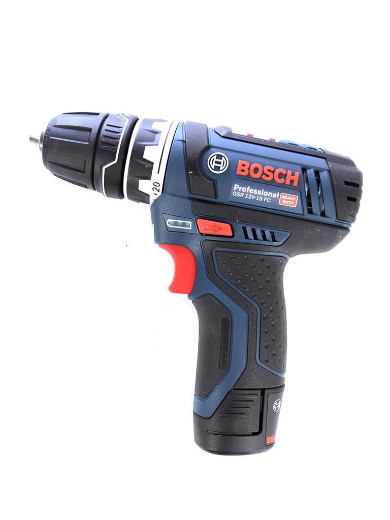 Электроинструмент BOSCH GSR 12V-15 FC 2.0Ач х2 L-BOXX комплект2 электроинструмент bosch gsr 12v 15 fc l boxx 06019f6001