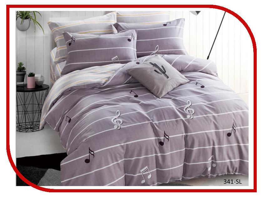 Постельное белье Cleo Satin Lux 15/341-SL Комплект 1.5 спальный Сатин