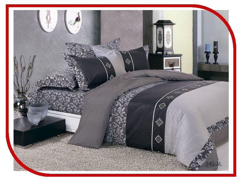 Постельное белье Cleo Satin Lux 15/342-SL Комплект 1.5 спальный Сатин постельное белье эго комплект 1 5 спальный полисатин