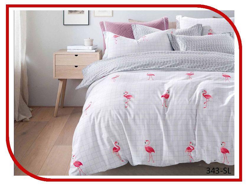 Постельное белье Cleo Satin Lux 15/343-SL Комплект 1.5 спальный Сатин