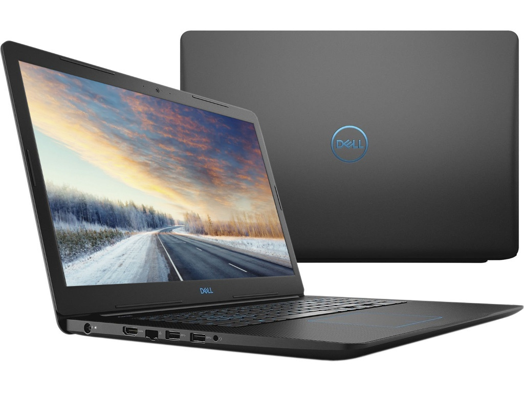 Ноутбук Dell G3-3779 Black G317-5348 (Intel Core i5-8300H 2.3 GHz/8192Mb/1000Gb+128Gb SSD/nVidia GeForce GTX 1050Ti 4096Mb/Wi-Fi/Bluetooth/Cam/17.3/1920x1080/Linux)