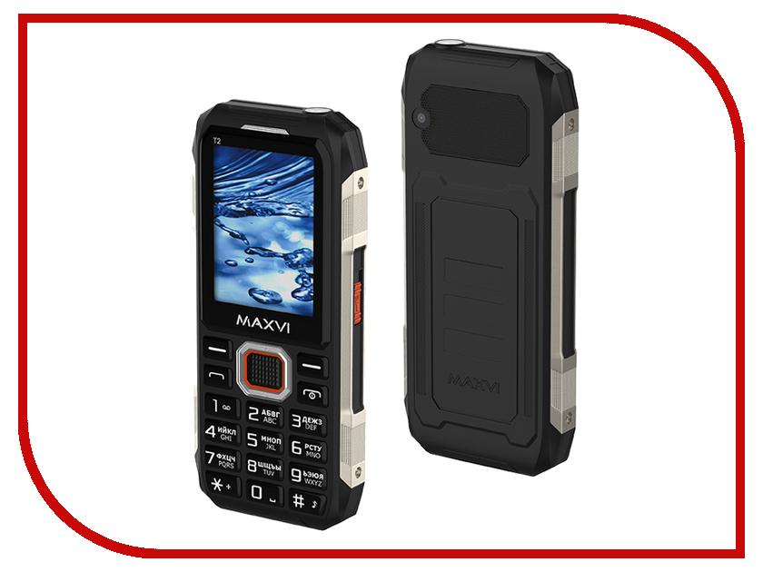 Сотовый телефон Maxvi T2 Black сотовый телефон maxvi b6 black