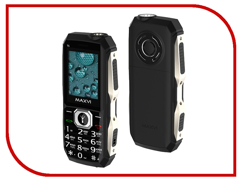 Сотовый телефон Maxvi T5 Black сотовый телефон maxvi t5 dark blue