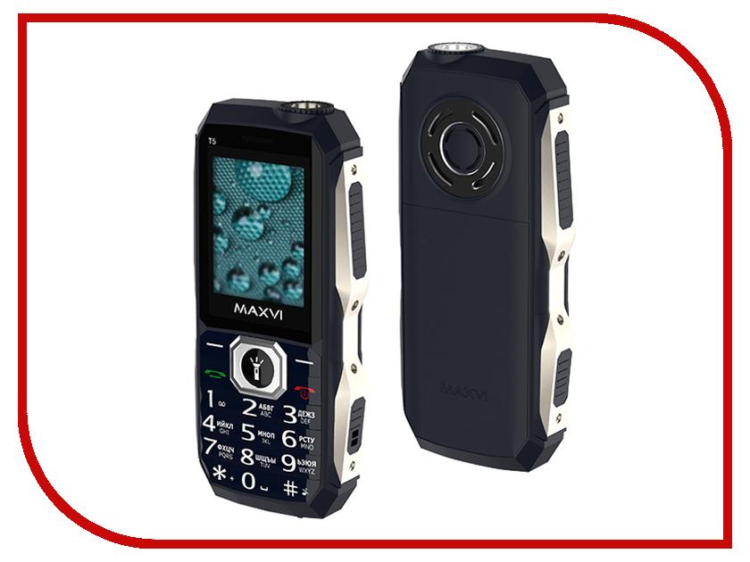 Фото - Сотовый телефон Maxvi T5 Dark Blue проводной и dect телефон foreign products vtech ds6671 3