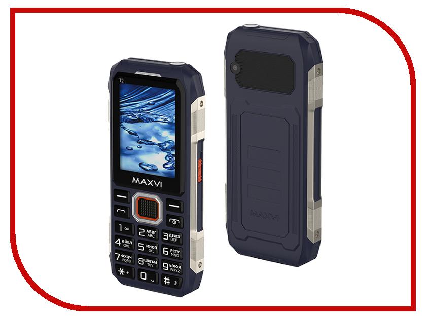 Сотовый телефон Maxvi T2 Blue сотовый телефон archos sense 55dc 503438