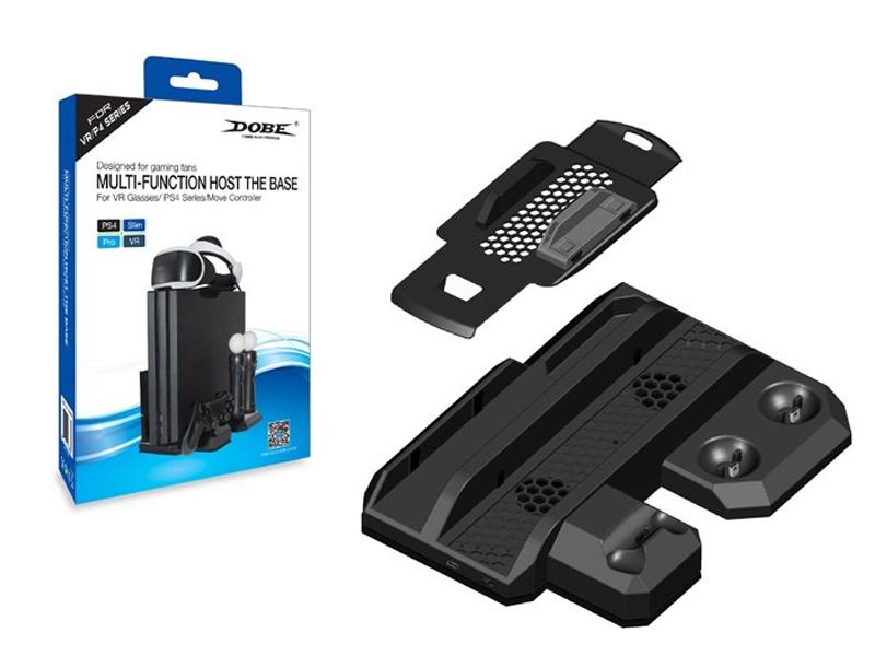 Подставка вертикальная Dobe TP4-888 Black для PS4 Slim/Pro цена и фото