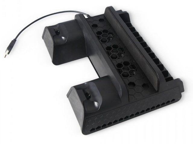 Подставка вертикальная Dobe TP4-882 Black для PS4 Slim/Pro цена и фото