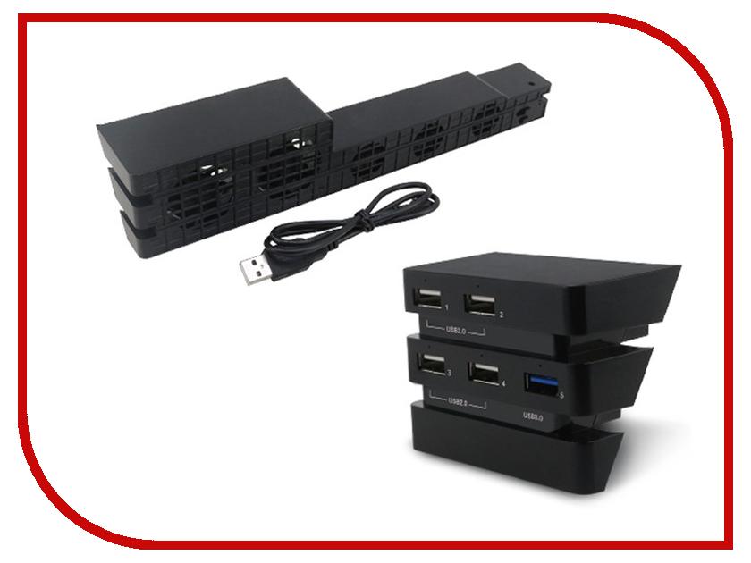 Набор аксессуаров Dobe Cooling Fan + Hub Kit TP4-894 Black для PS4 Pro 25mm x 25mm brushless cooling fan for esc motor black