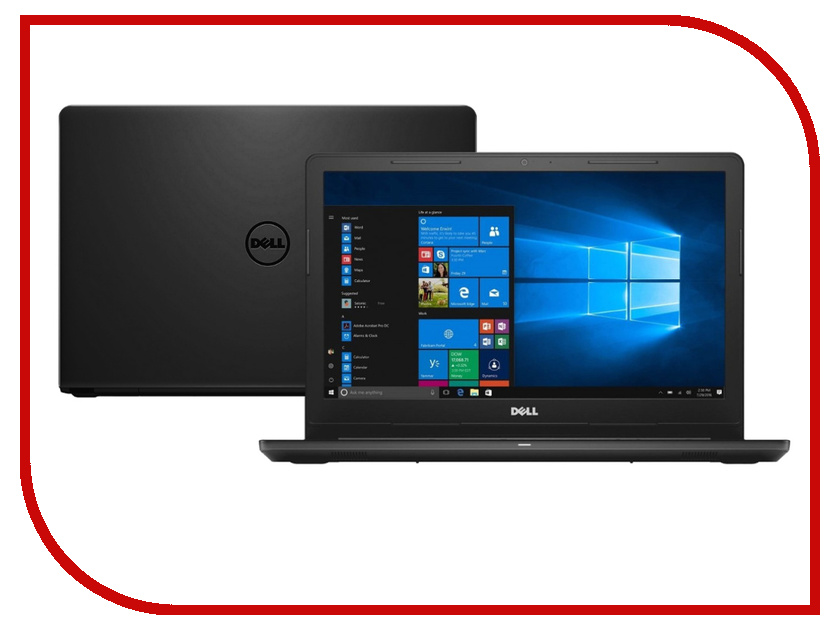 Ноутбук Dell Inspiron 3576 Black 3576-5256 (Intel Core i3-7020U 2.3 GHz/4096Mb/1000Gb/DVD-RW/AMD Radeon 520 2048Mb/Wi-Fi/Bluetooth/Cam/15.6/1920x1080/Windows 10 Home 64-bit) ноутбук hp 15 bs612ur silk gold 2qj04ea intel core i3 6006u 2 0 ghz 4096mb 1000gb dvd rw amd radeon 520 2048mb wi fi bluetooth cam 15 6 1920x1080 windows 10 home 64 bit