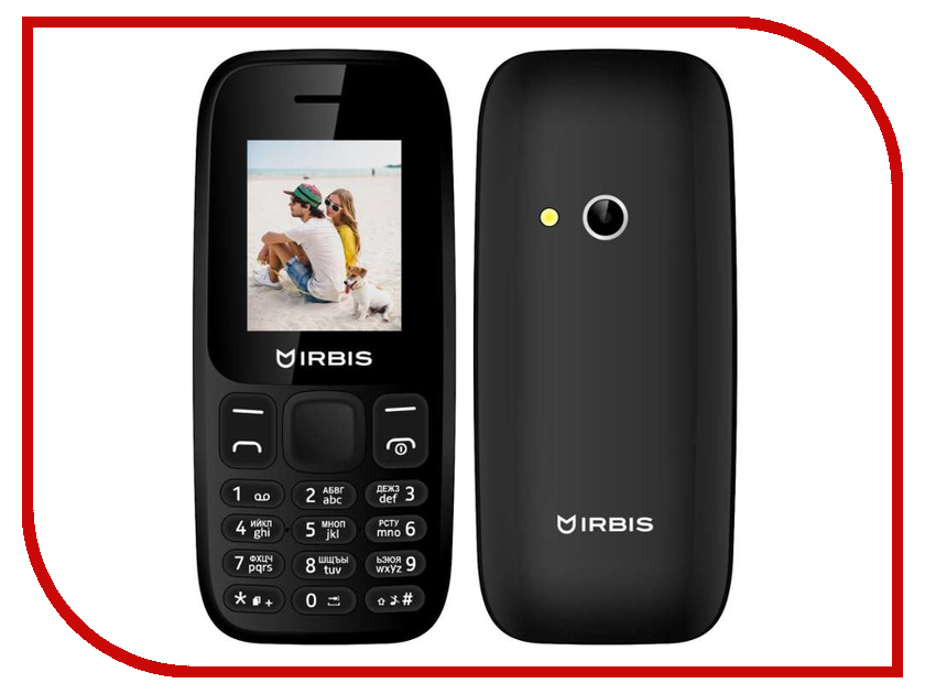 Сотовый телефон Irbis SF16 Black сотовый телефон elari cardphone black