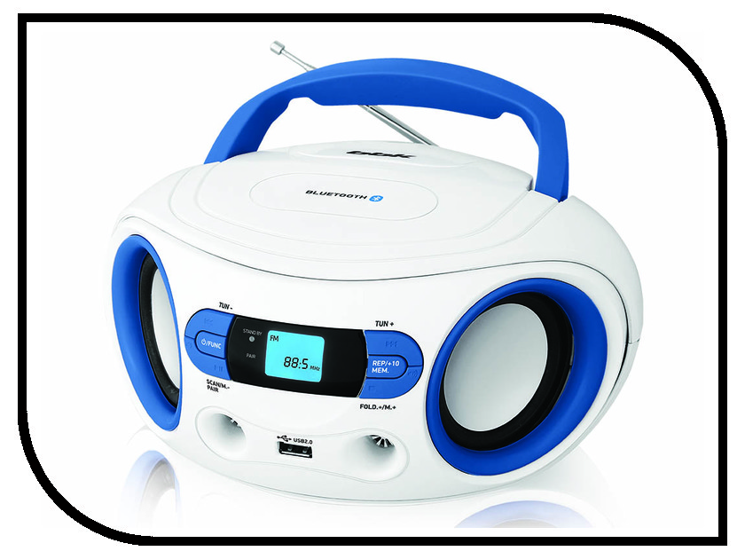 Магнитола BBK BS15BT White-Light Blue