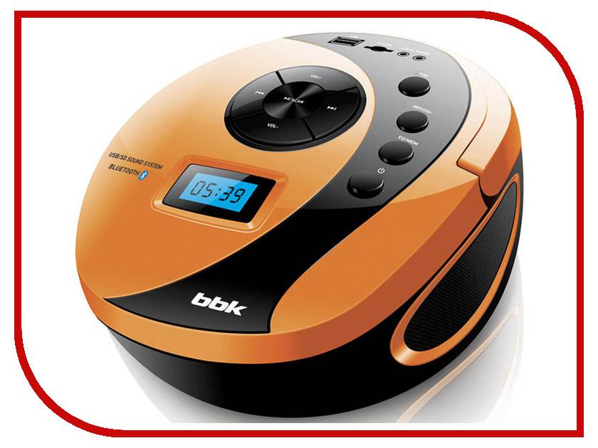 Магнитола BBK BS10BT Black-Orange магнитола bbk bx900bt black