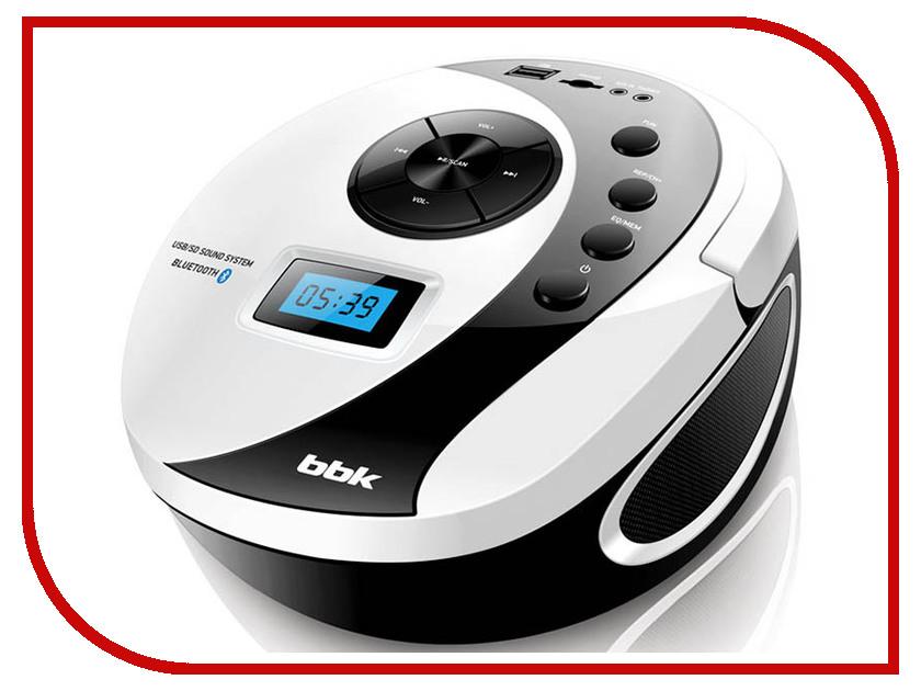 Магнитола BBK BS10BT White-Black