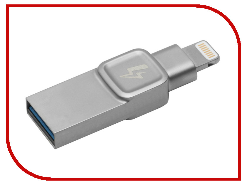 Купить USB Flash Drive 64Gb - Kingston DataTraveler Bolt Duo USB 3.1 Silver C-USB3L-SR64G-EN