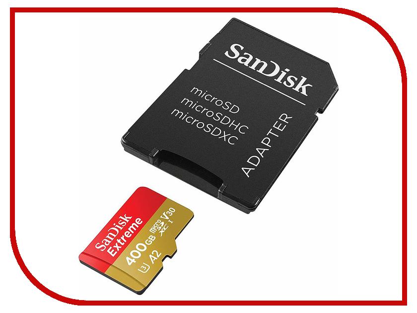 Карта памяти 400Gb - SanDisk MicroSDXC Extreme Class10 SDSQXA1-400G-GN6MA с переходником под SD 400g lot top grade 10