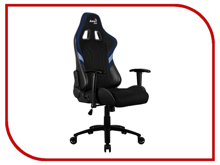 Компьютерное кресло AeroCool AERO 1 Alpha Black-Blue dxseat p33 xb компьютерное кресло black blue