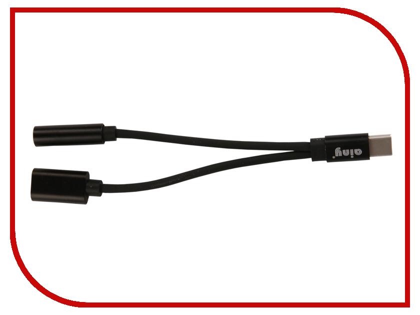 Аксессуар Ainy USB Type-C - miniJack 3.5mm FA-S174A Black