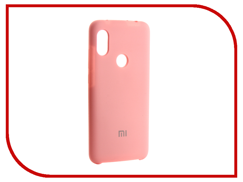 Аксессуар Чехол для Xiaomi Redmi Note 6 Innovation Silicone Pink 13534 аксессуар чехол для huawei p smart 7s innovation silicone pink 12840