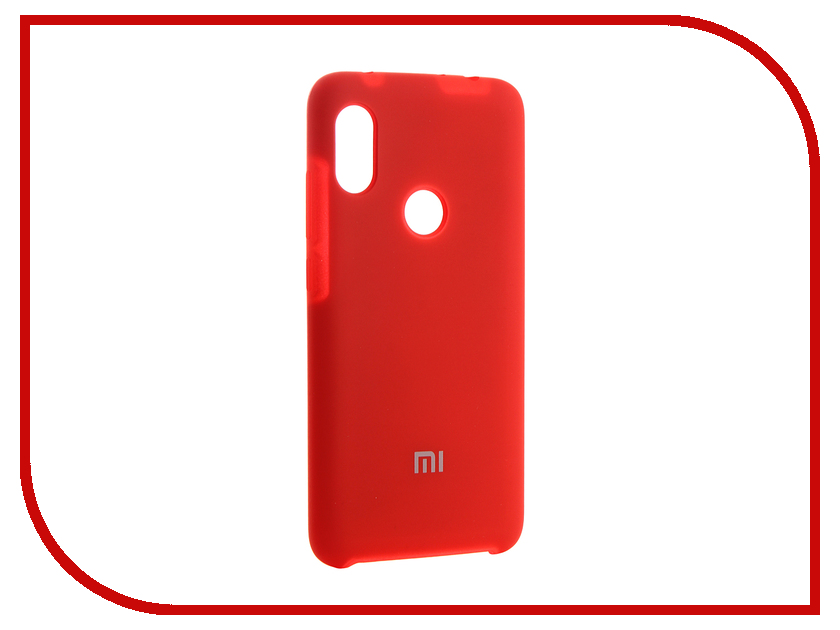 Аксессуар Чехол для Xiaomi Redmi Note 6 Innovation Silicone Red 13533 s cool юбка s cool для девочки