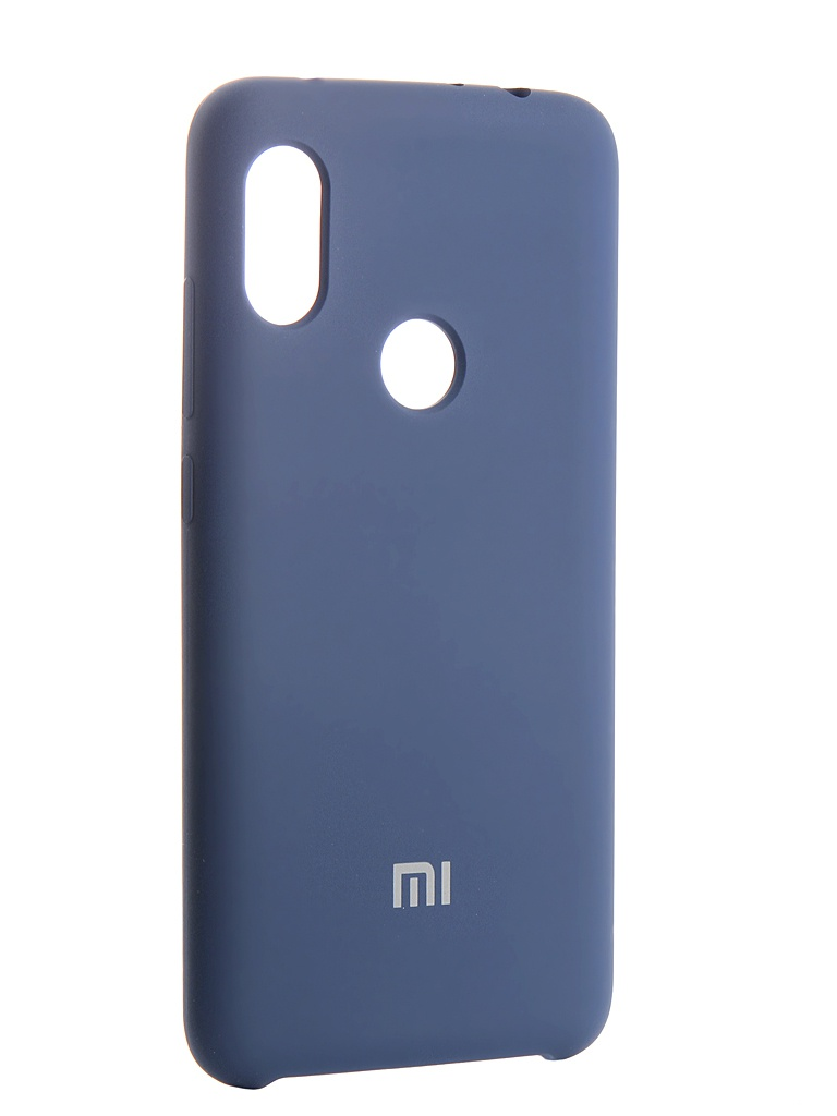 Аксессуар Чехол Innovation для Xiaomi Redmi Note 6 Silicone Blue 13531 аксессуар чехол xiaomi redmi note 2 cojess ultra slim blue