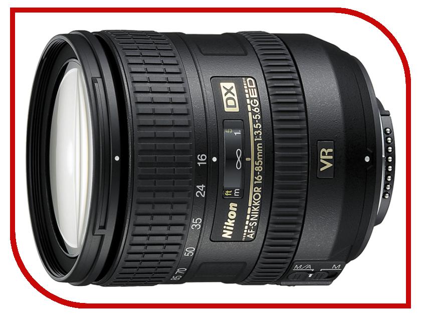 Объектив Nikon Nikkor AF-S 16-85 mm F/3.5-5.6 G ED DX VR объектив nikon 18 200mm f 3 5 5 6g ed af s vr ii dx zoom nikkor