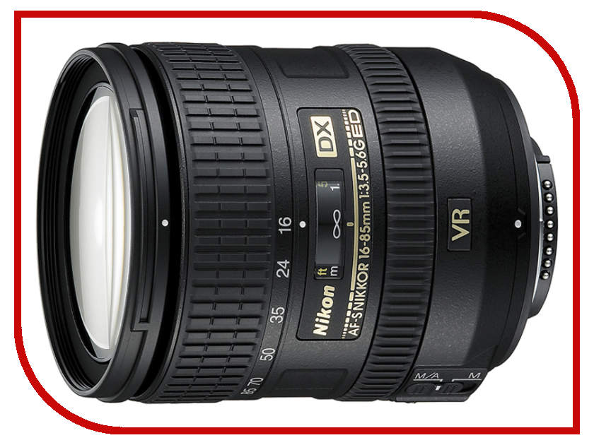 Объектив Nikon Nikkor AF-S 16-85 mm F/3.5-5.6 G ED DX VR lacywear s 16 nez